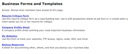 Business Forms and Templates Screenshot